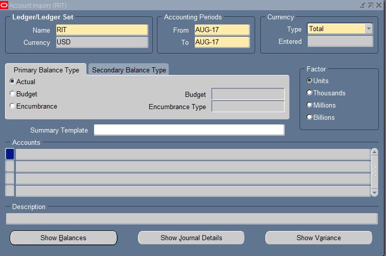 Navigator screen