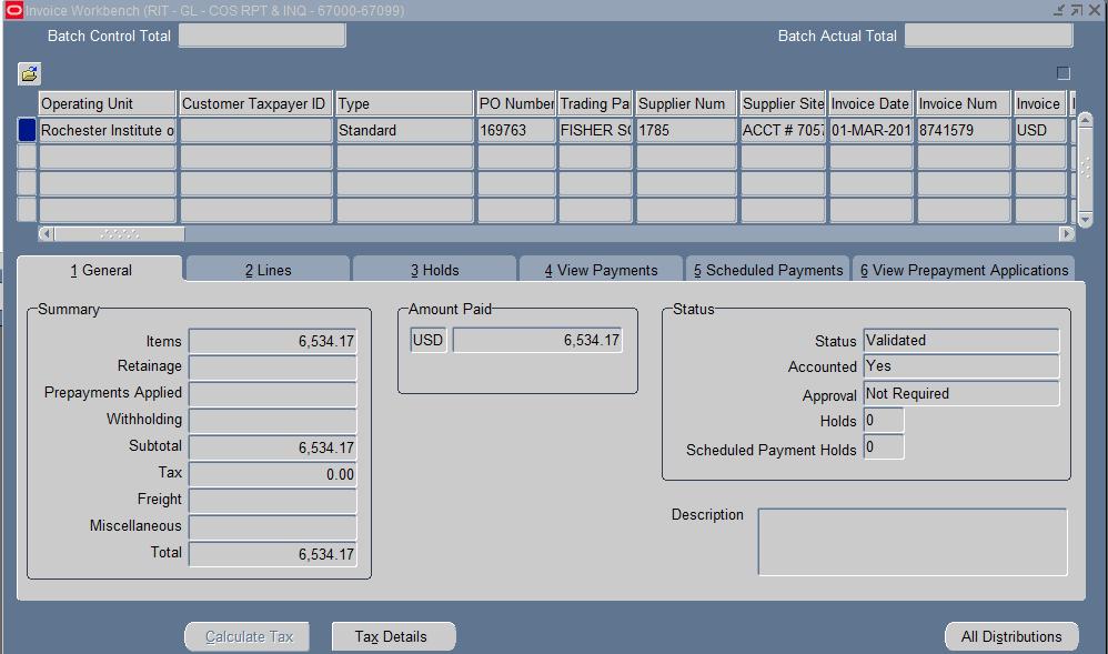 Invoice Workbench