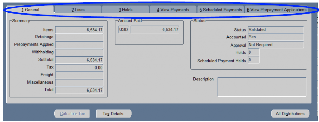 Invoice, Purchase Order and Payment information