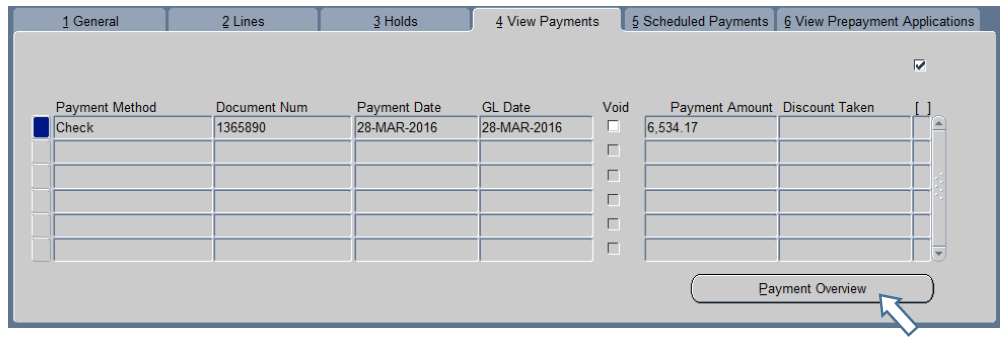 View Payments